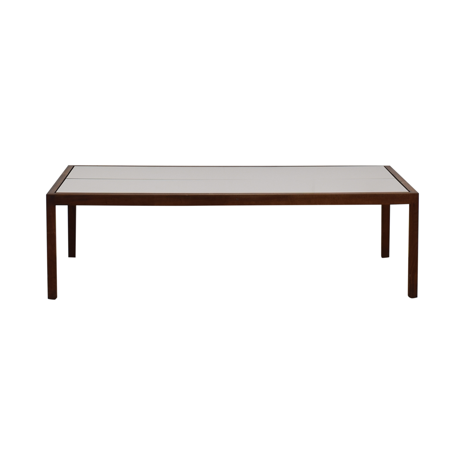 Knoll Knoll White Laminate and Walnut Coffee Table
