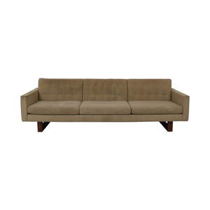 shop American Leather American Leather Tan Tufted Three-Cushion Sofa online