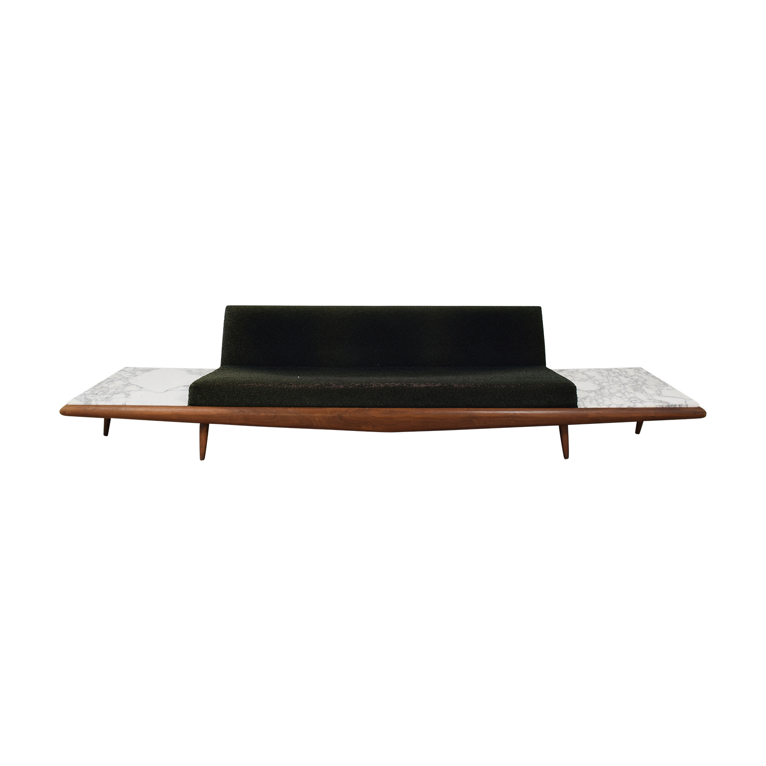 shop Craft Associates Craft Associates by Adrian Pearsall Floating Platform Sofa With Carrara Marble Side Tables online