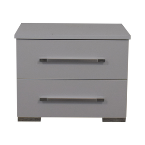 Contemporary White Nightstand used