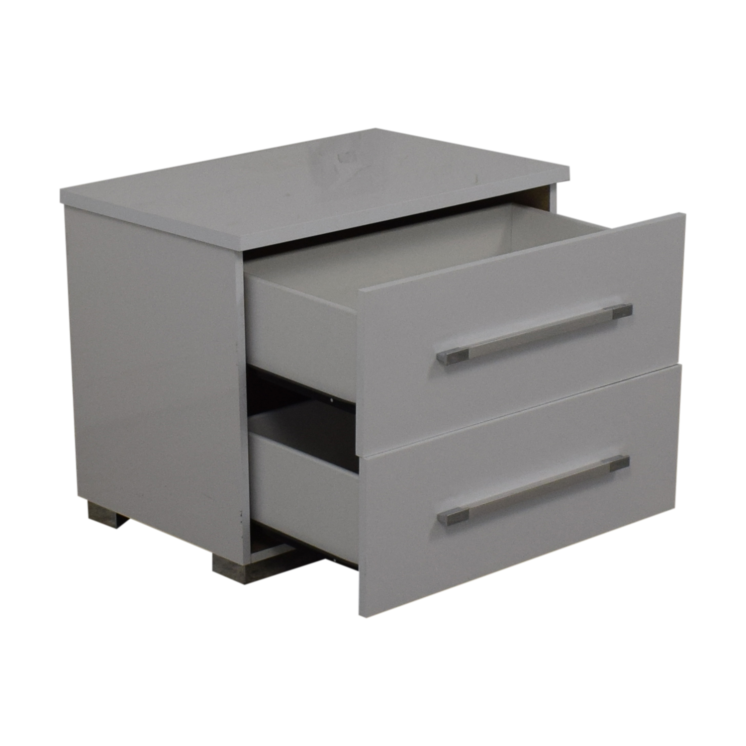 Contemporary White Nightstand discount