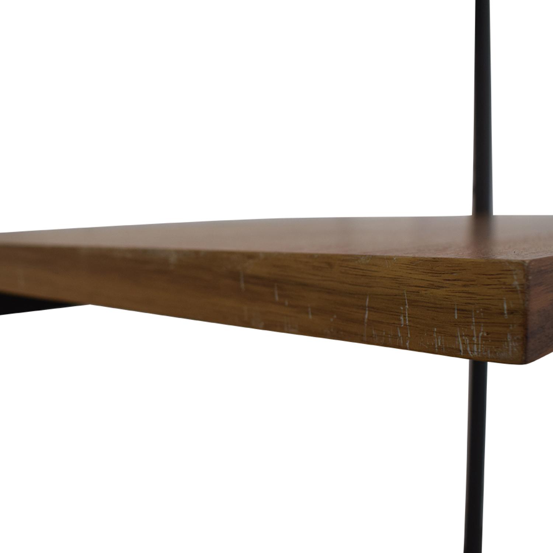 CB2 Helix Acacia Desk CB2