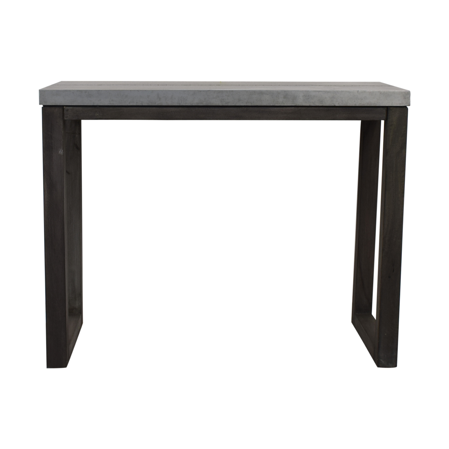 CB2 CB2 Stern Metal Counter Table industrial metal/gray