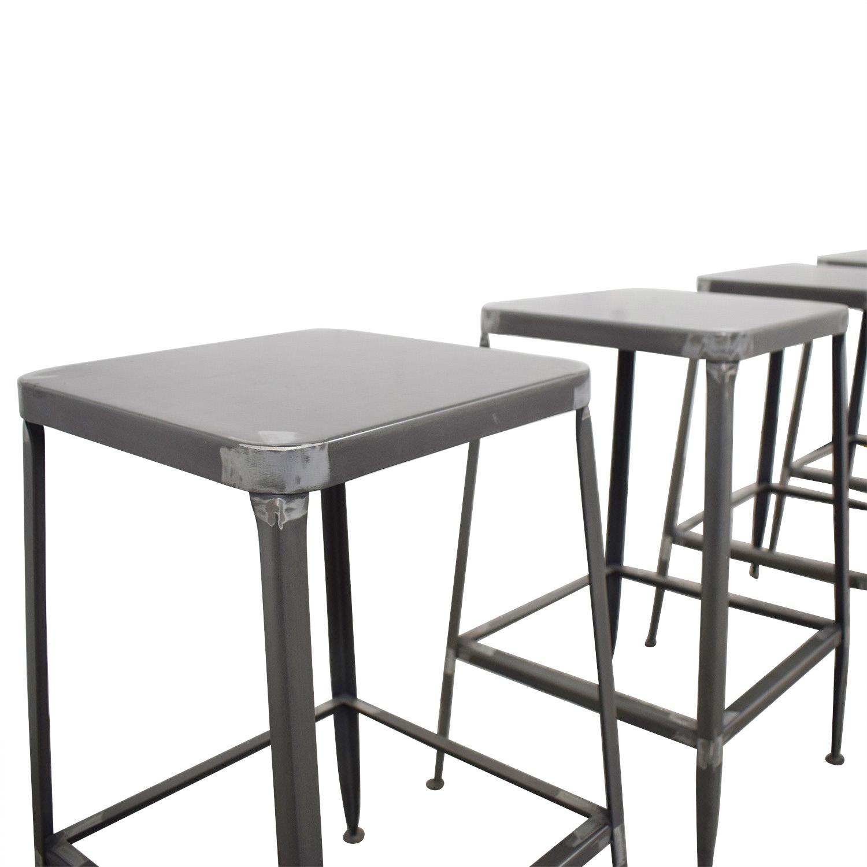 buy CB2 CB2 Flint Steel Counter Stools online