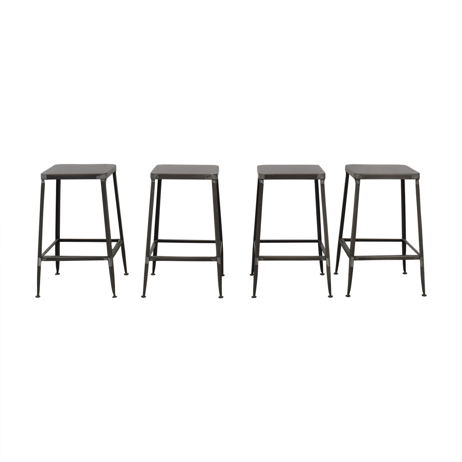 CB2 CB2 Flint Steel Counter Stools discount
