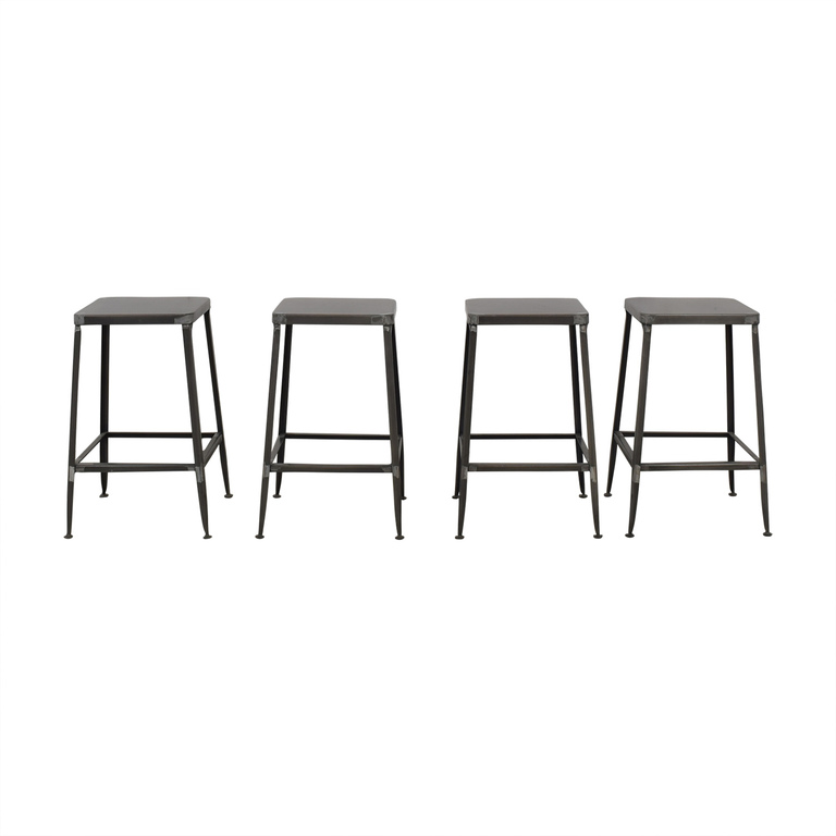 CB2 Flint Steel Counter Stools / Chairs