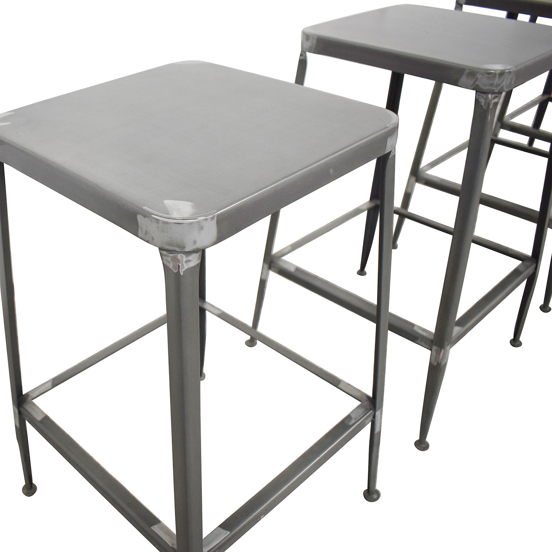 buy CB2 Flint Steel Counter Stools CB2