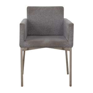 CB2 CB2 Grey and Chrome Chair used