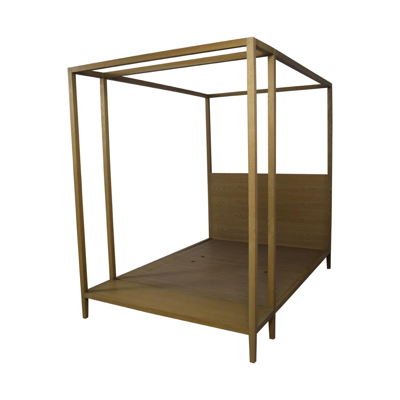 buy West Elm Queen Canopy Bed Frame West Elm Beds