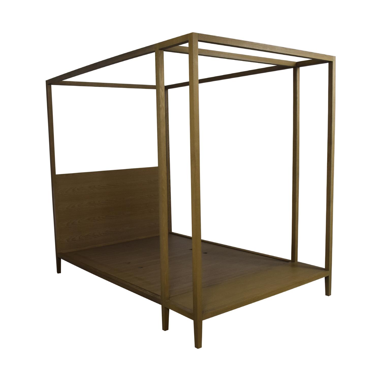 shop West Elm Queen Canopy Bed Frame West Elm