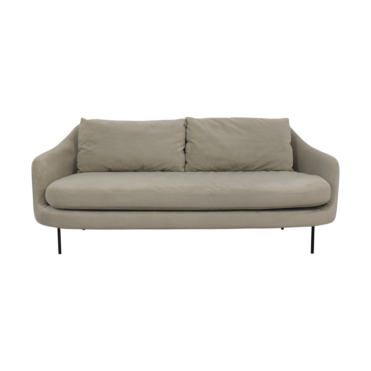 Beige Single Cushion Convex Couch coupon