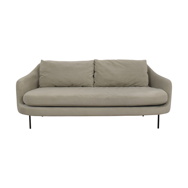 Beige Single Cushion Convex Couch dimensions