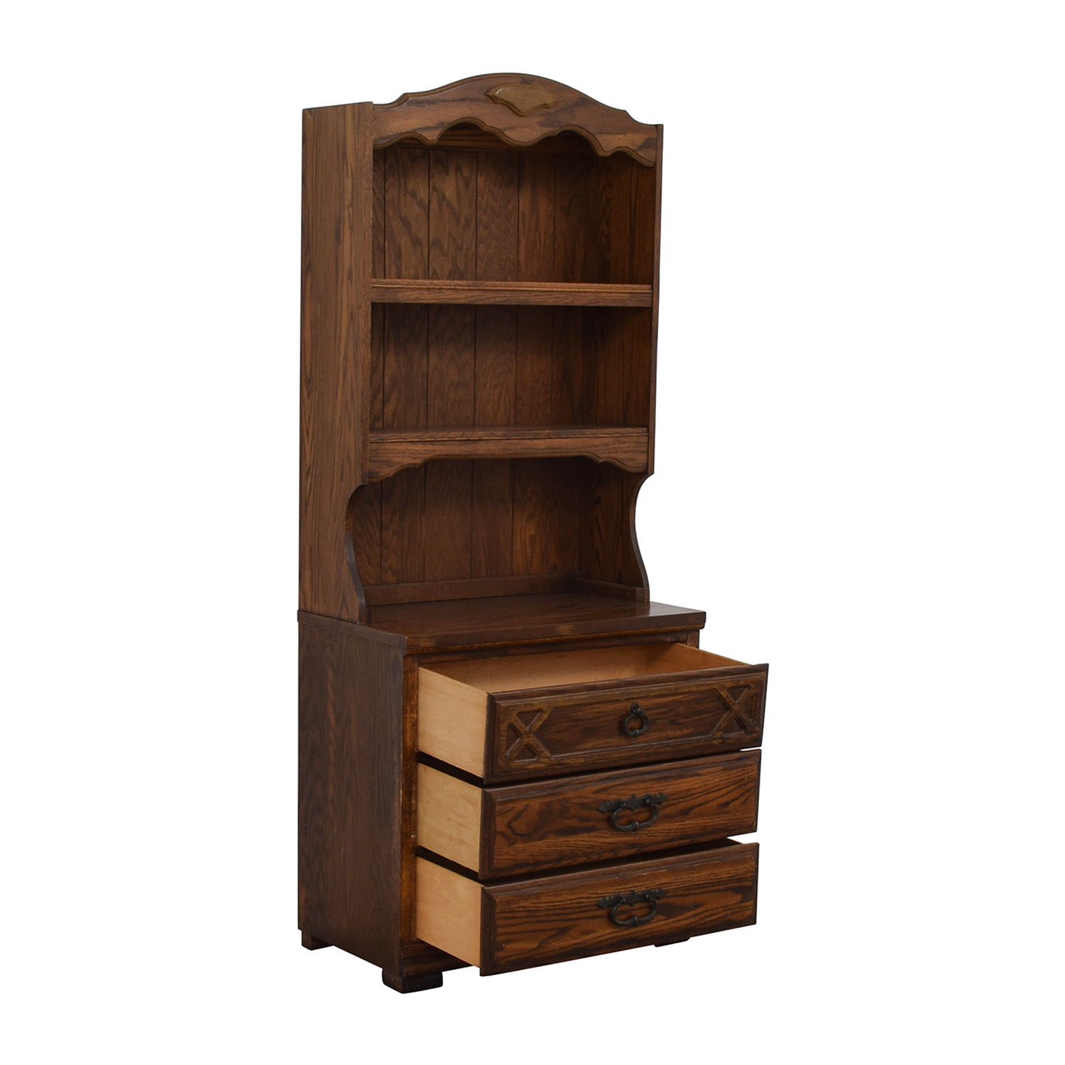shop Wood Cabinet Hutch with Three Drawers  Storage