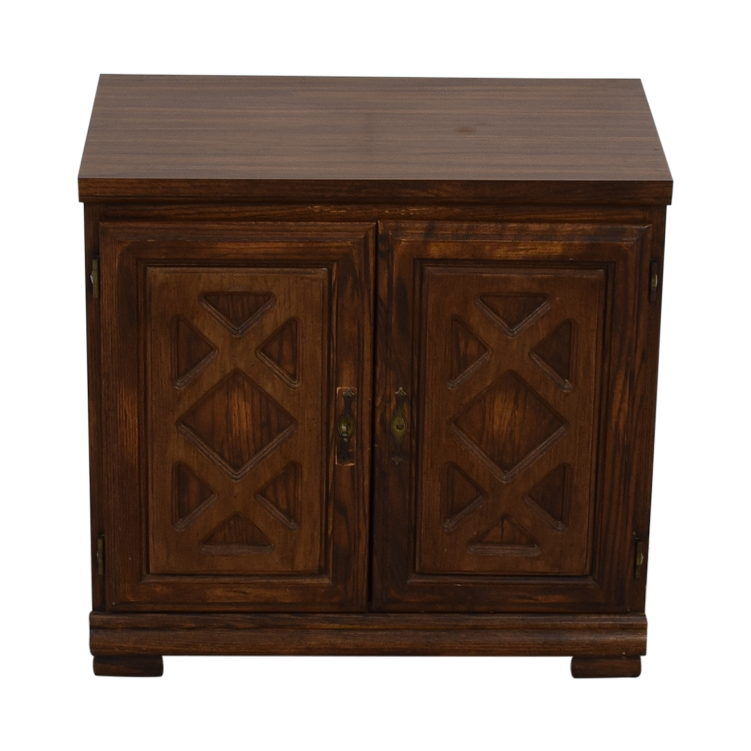 buy Carved Wood Chest with Shelves