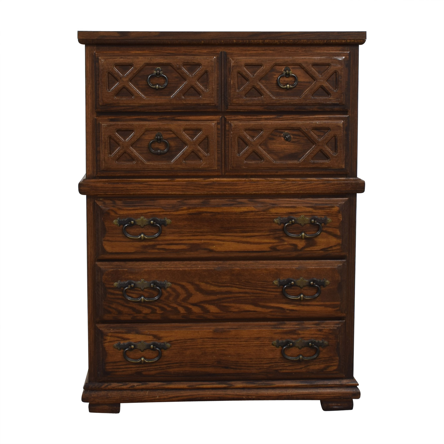 buy Carved Wood Seven-Drawer Tall Dresser  Dressers