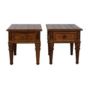 shop Thomasville Thomasville Ernest Hemingway Collection Single Drawer Carved Wood End Tables online
