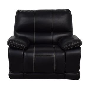 Klaussner Klaussner Black Reclining Chair nj