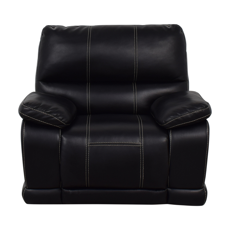 buy Klaussner Black Reclining Chair Klaussner