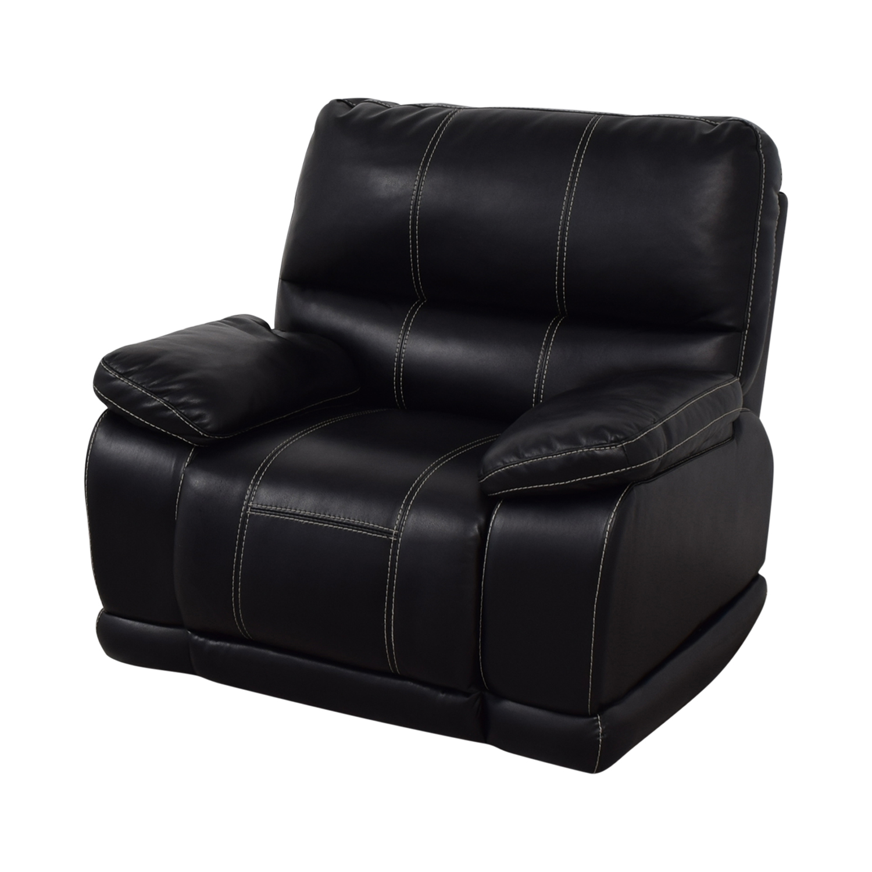 shop Klaussner Black Reclining Chair Klaussner Recliners