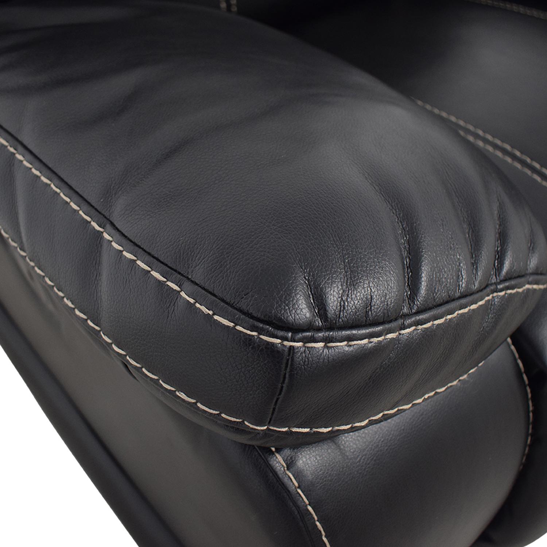 shop Klaussner Black Reclining Chair Klaussner