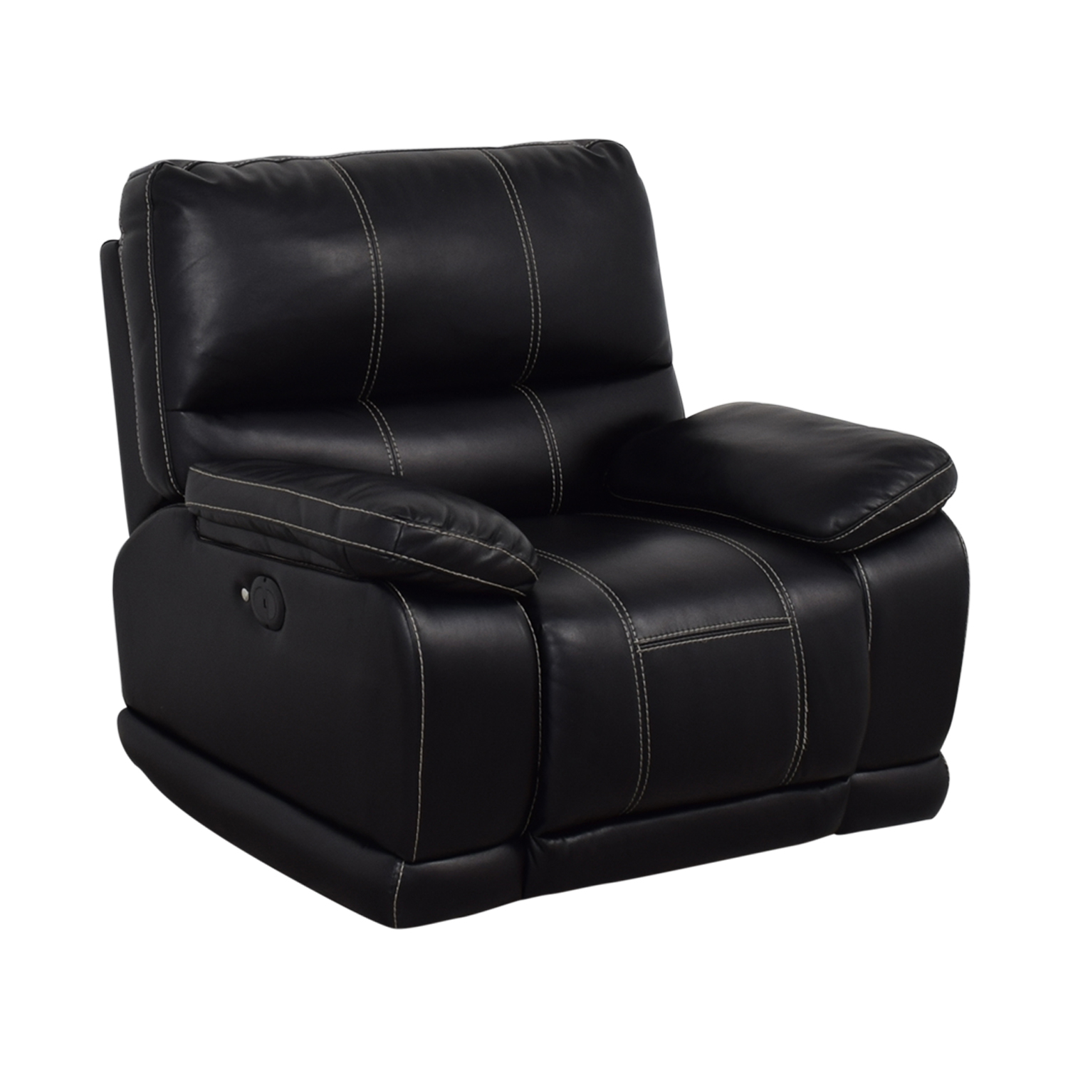 Klaussner Klaussner Black Reclining Chair on sale