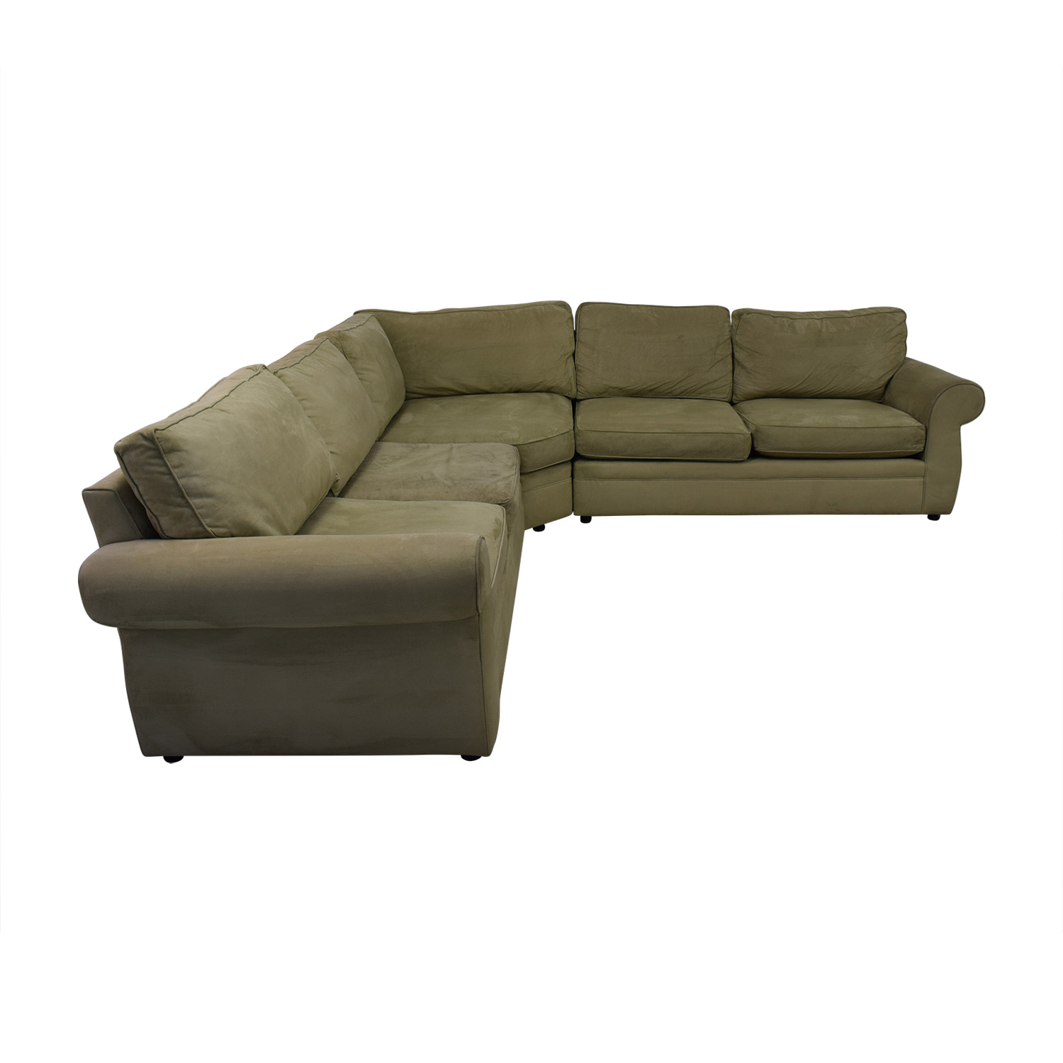 shop Pottery Barn Pearce Beige L-Shaped Sectional Pottery Barn