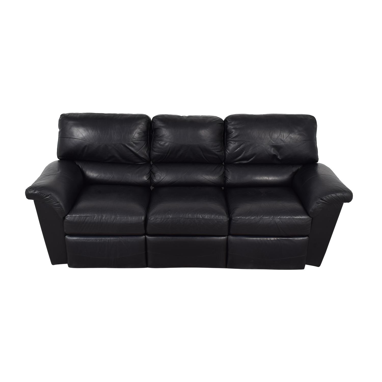 La-Z-Boy Reese Black Three-Cushion Recliner Sofa / Recliners