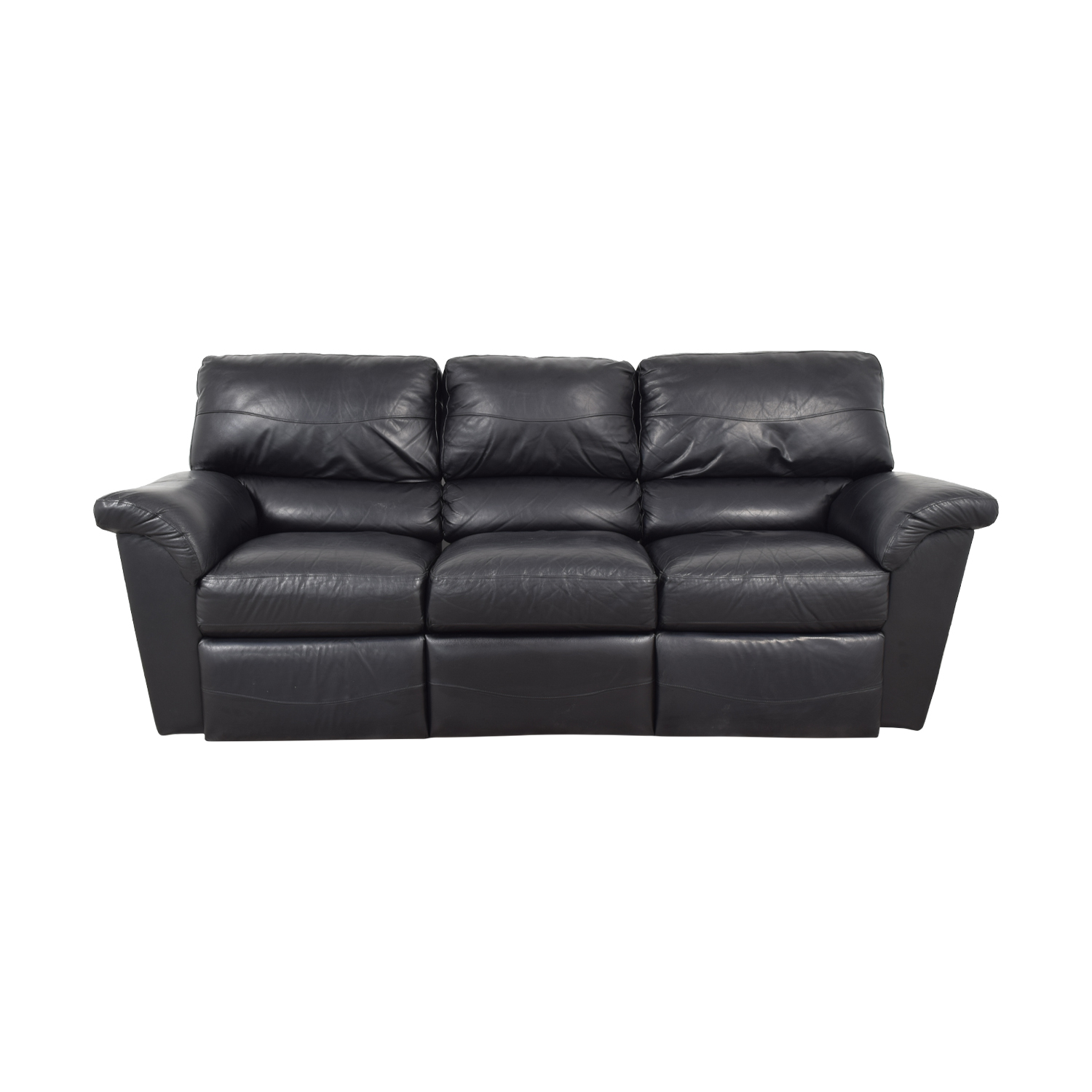 La-Z-Boy La-Z-Boy Reese Black Three-Cushion Recliner Sofa nyc