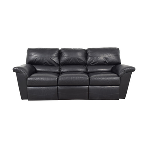 La-Z-Boy La-Z-Boy Reese Black Three-Cushion Recliner Sofa