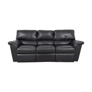 La-Z-Boy La-Z-Boy Reese Black Three-Cushion Recliner Sofa nj