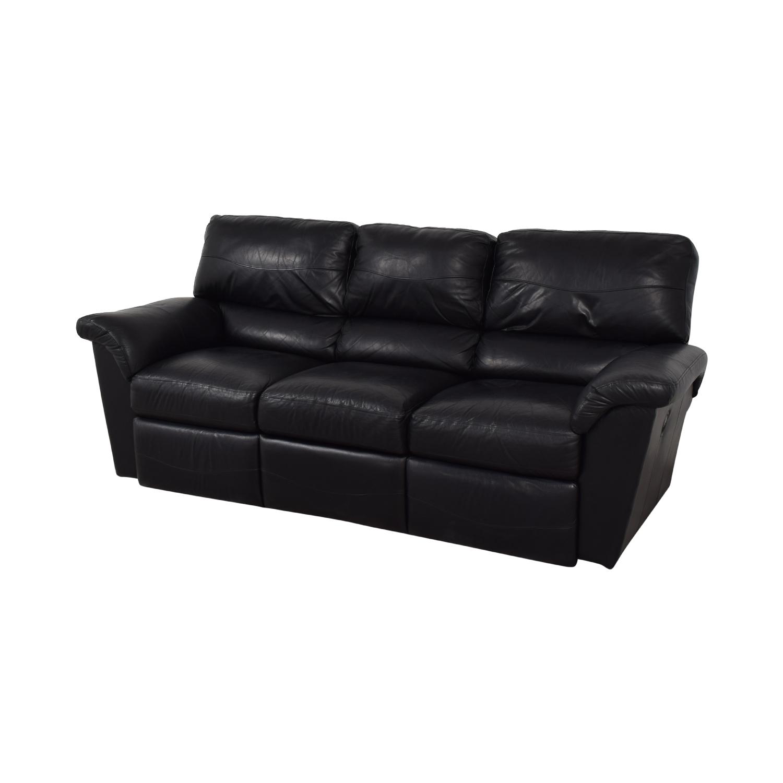 La-Z-Boy La-Z-Boy Reese Black Three-Cushion Recliner Sofa black