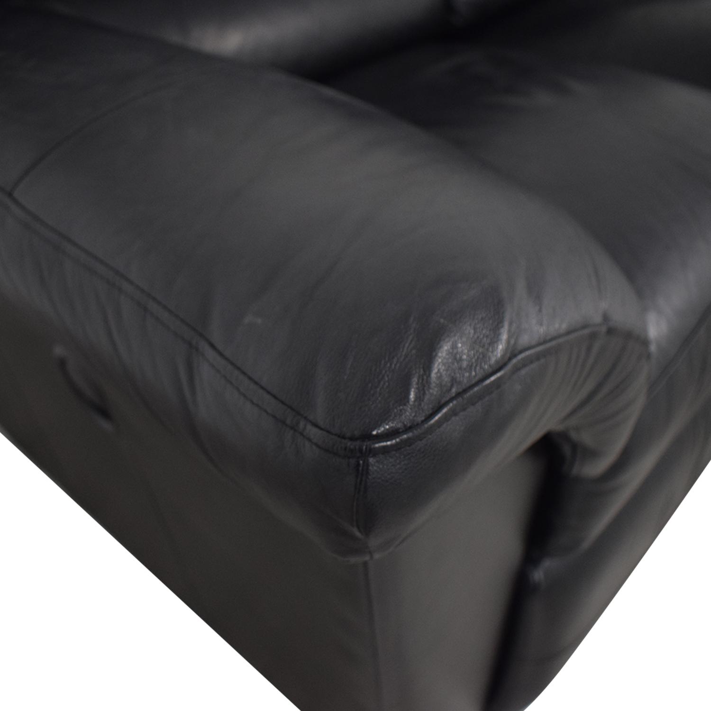 shop La-Z-Boy Reese Black Three-Cushion Recliner Sofa La-Z-Boy