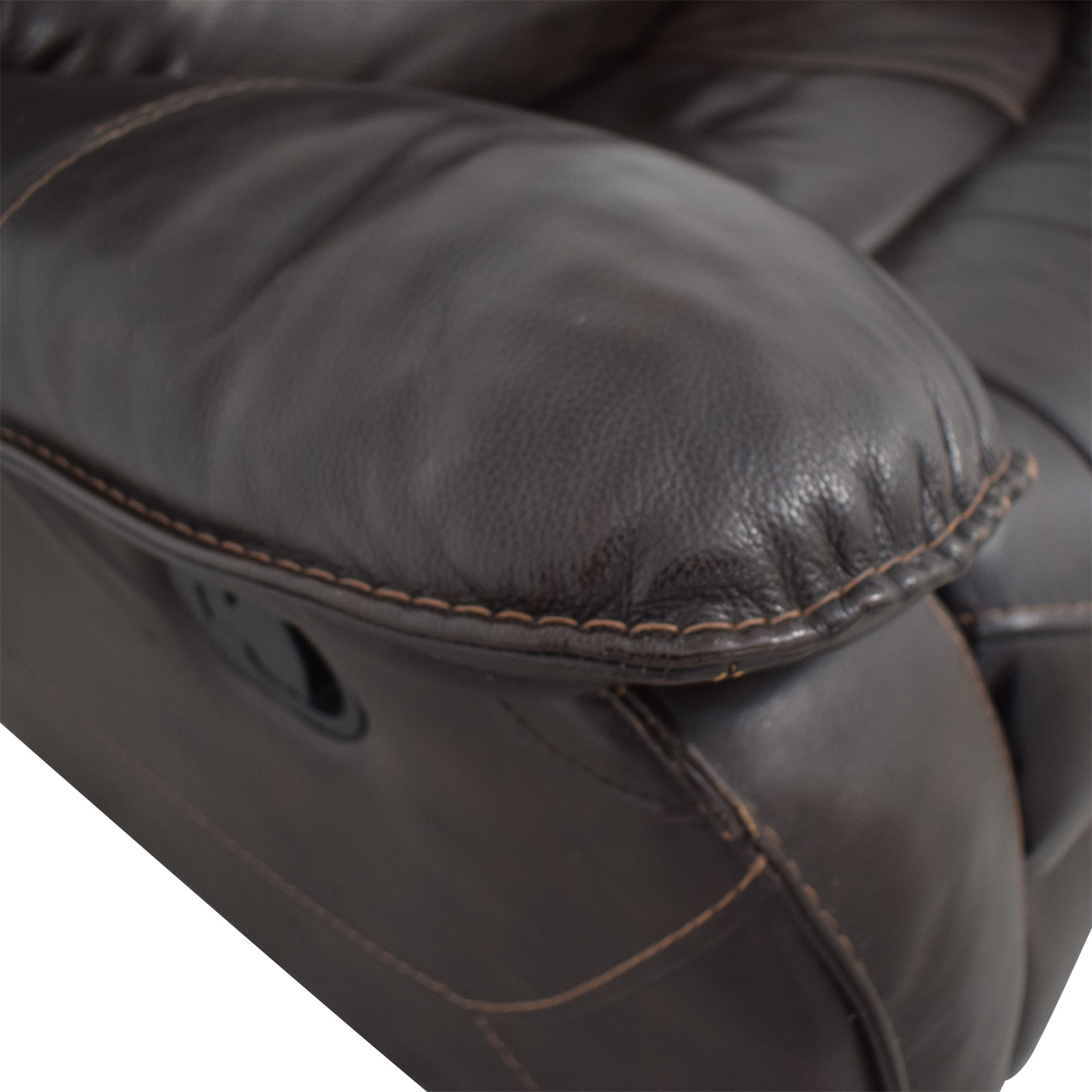 Macy's Macy's Brown Leather Recliner Chair