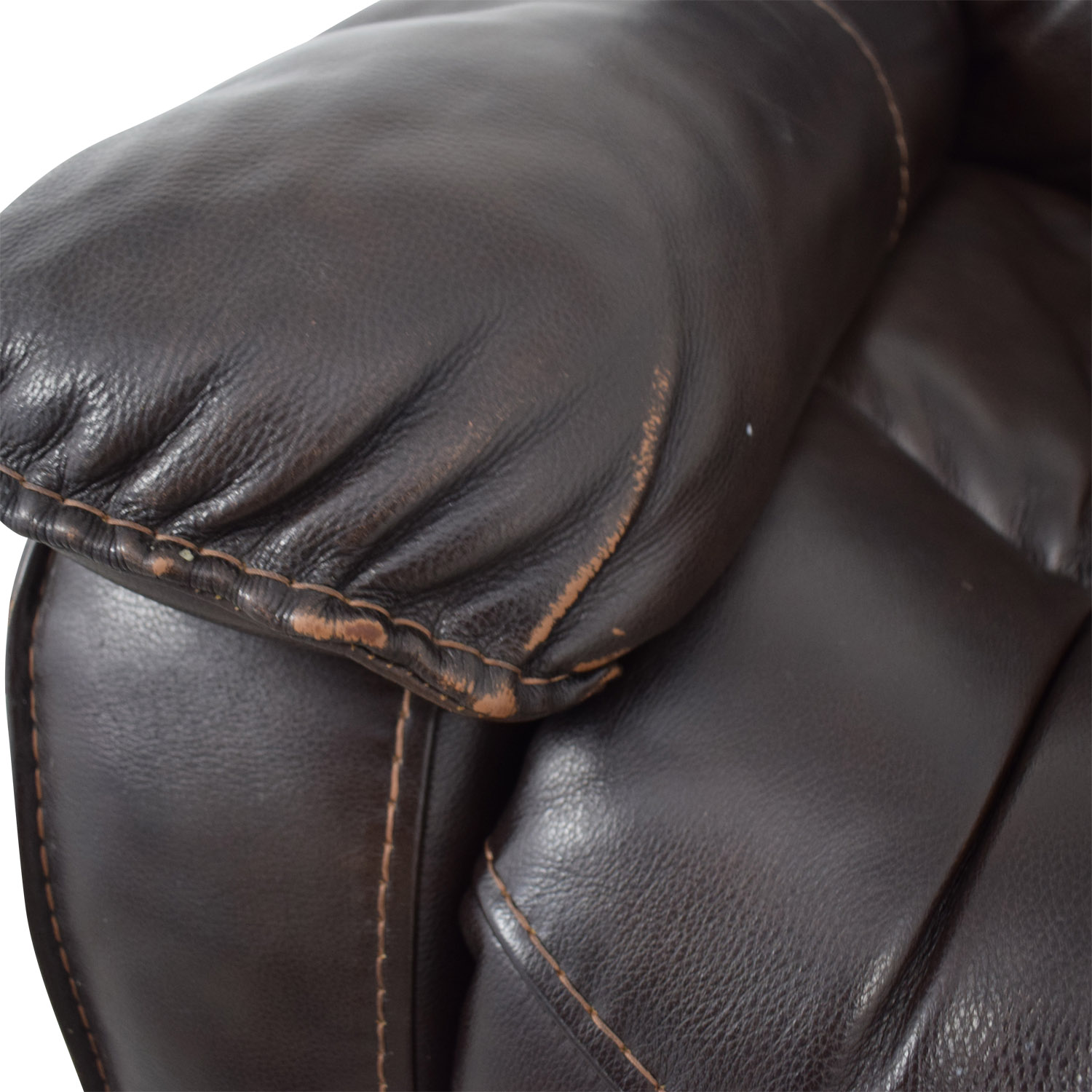 Macy's Macy's Brown Leather Recliner Chair Chairs