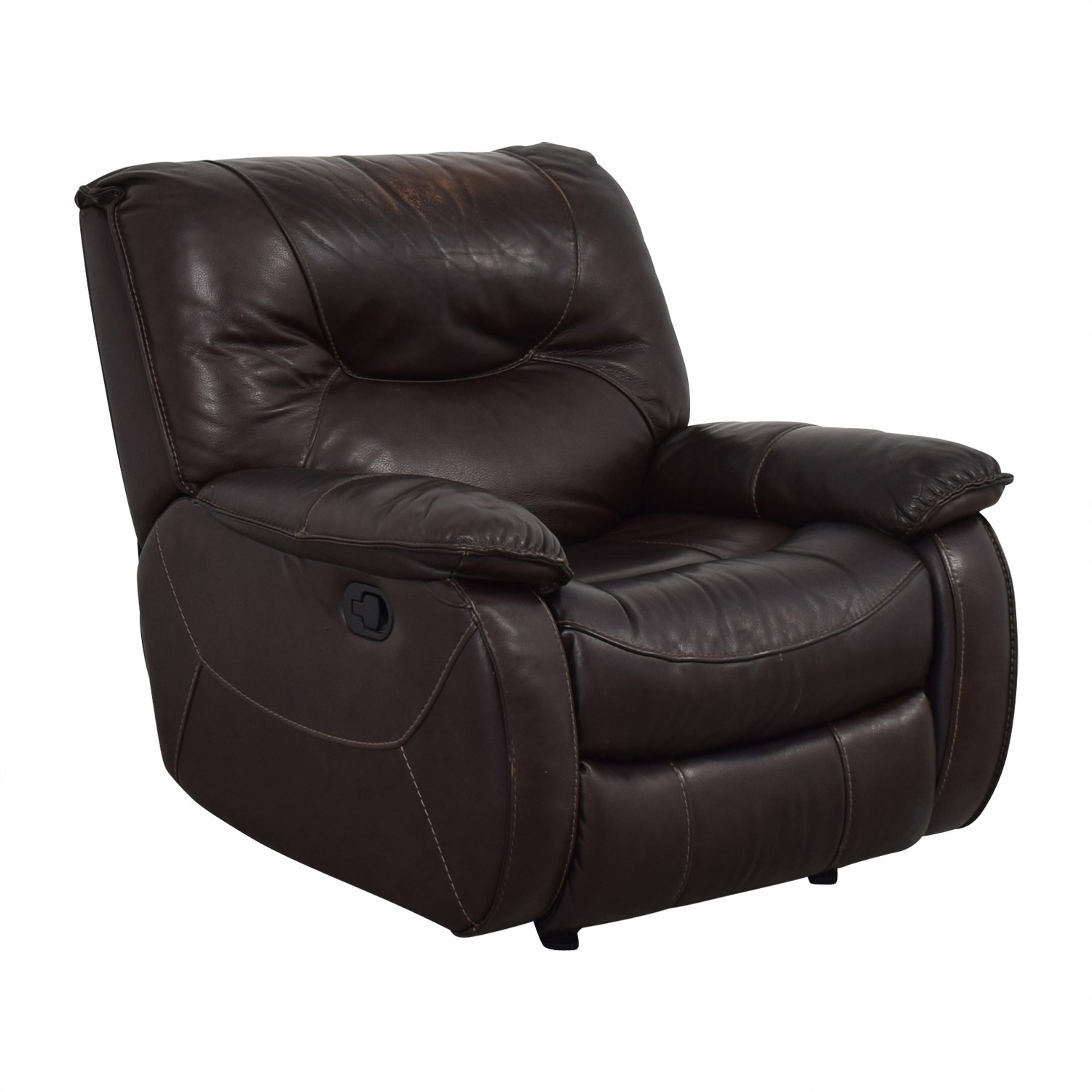 Macy's Macy's Brown Leather Recliner Chair nj
