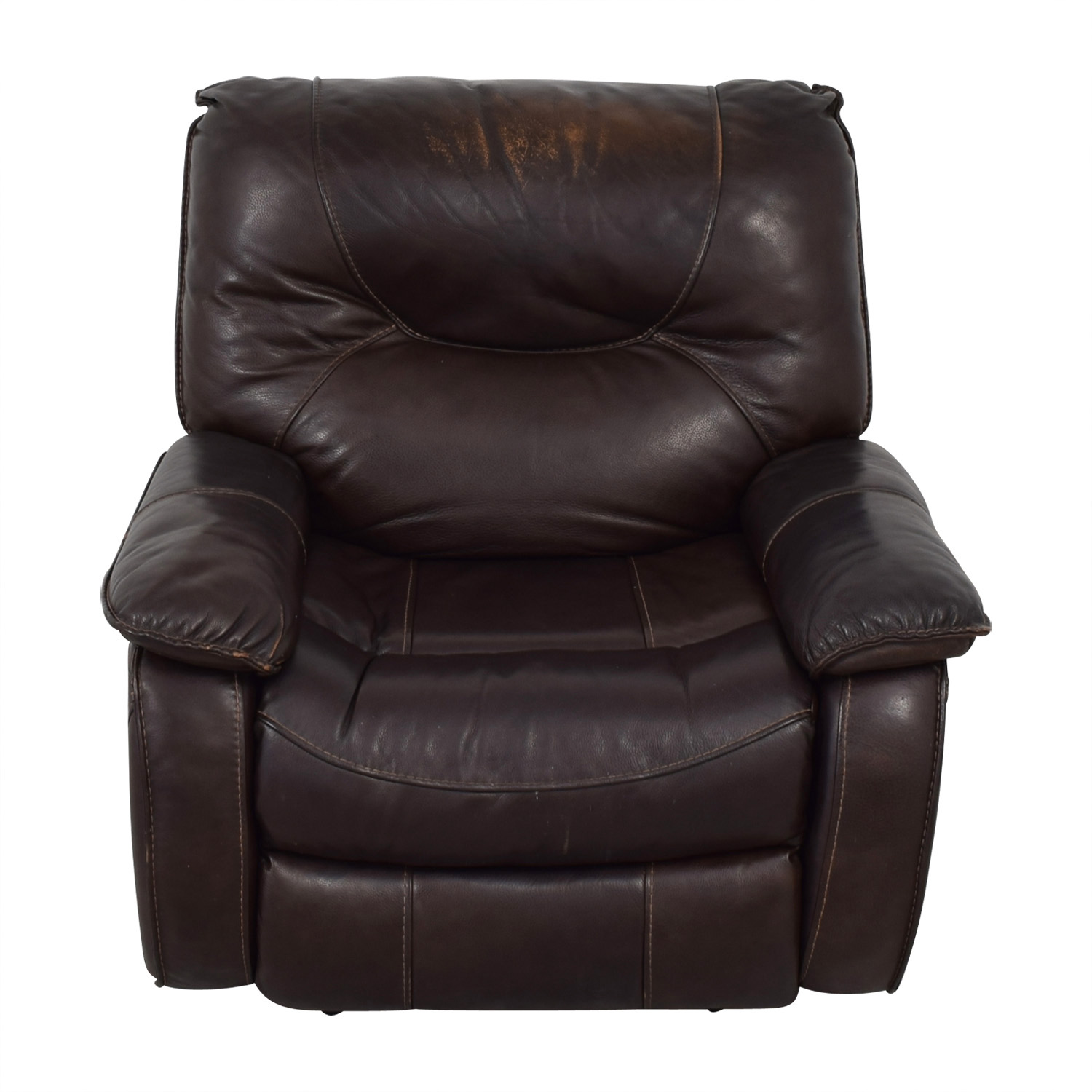 shop Macy's Brown Leather Recliner Chair Macy's