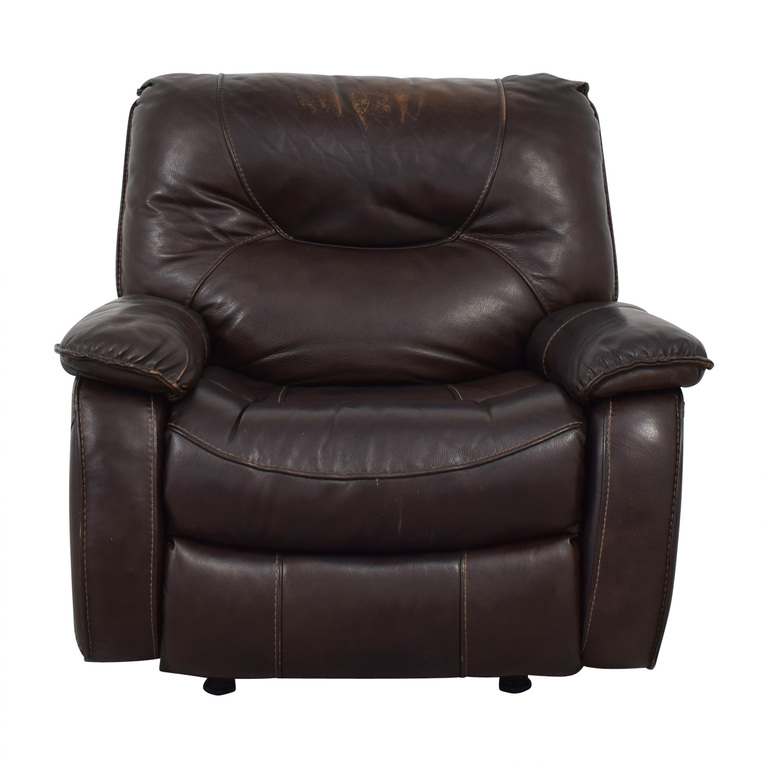 Macy's Macy's Brown Leather Recliner Chair discount