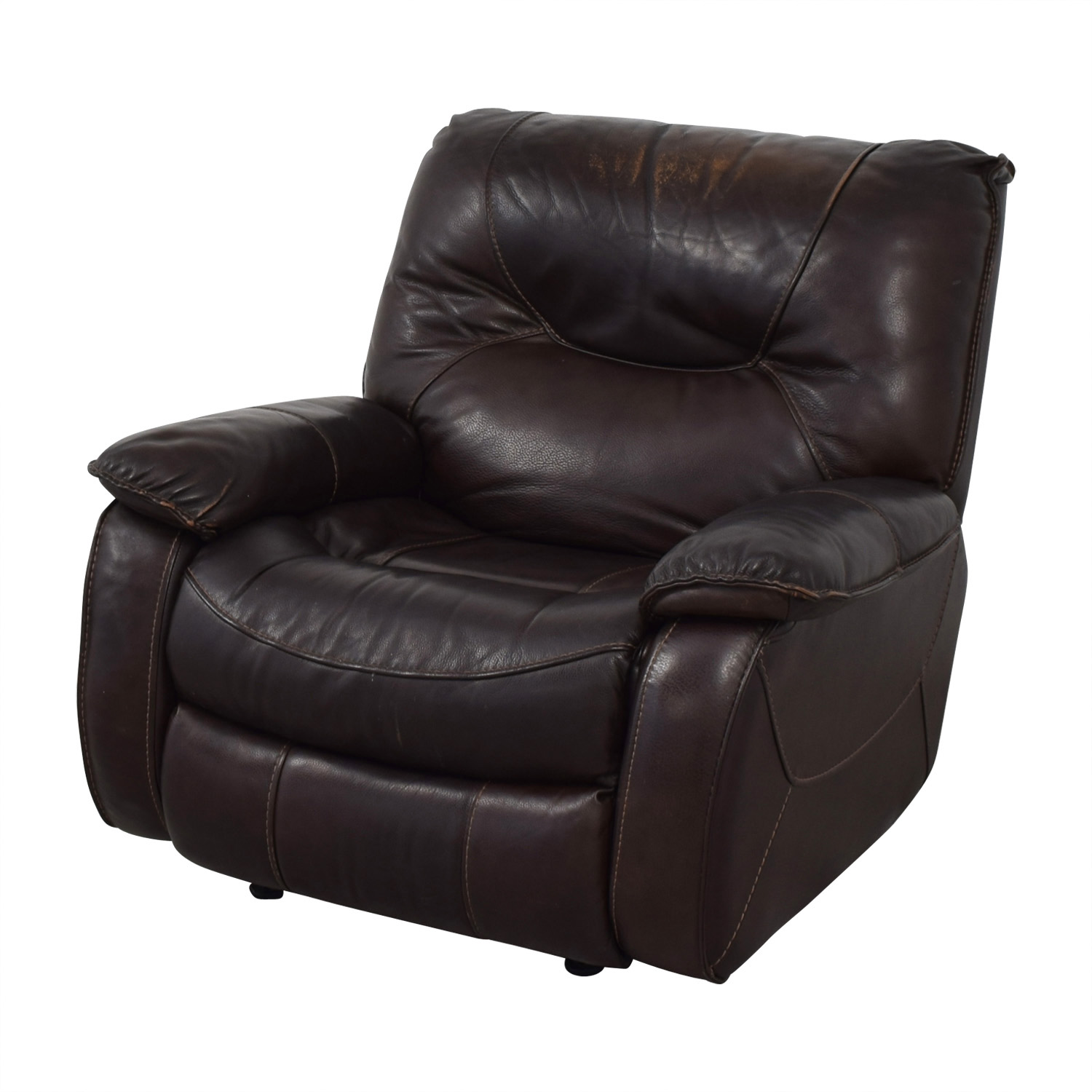 Macy's Macy's Brown Leather Recliner Chair brown