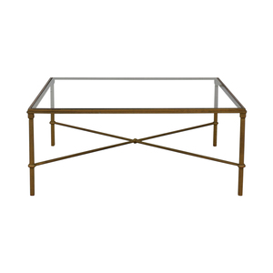 Glass and Metal Coffee Table Tables