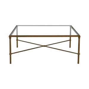 Glass and Metal Coffee Table sale