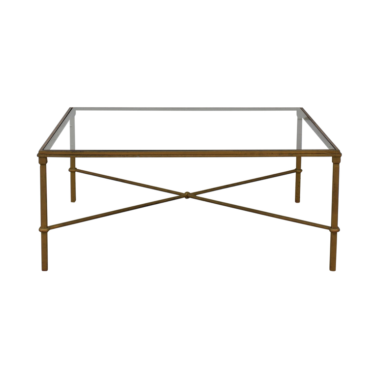 Glass and Metal Coffee Table on sale