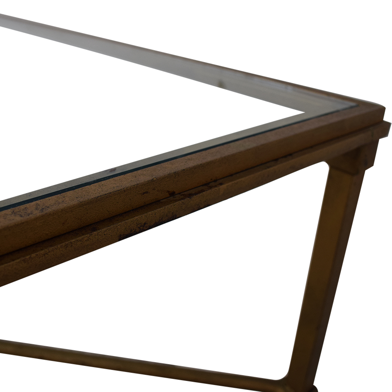 Glass and Metal Coffee Table discount