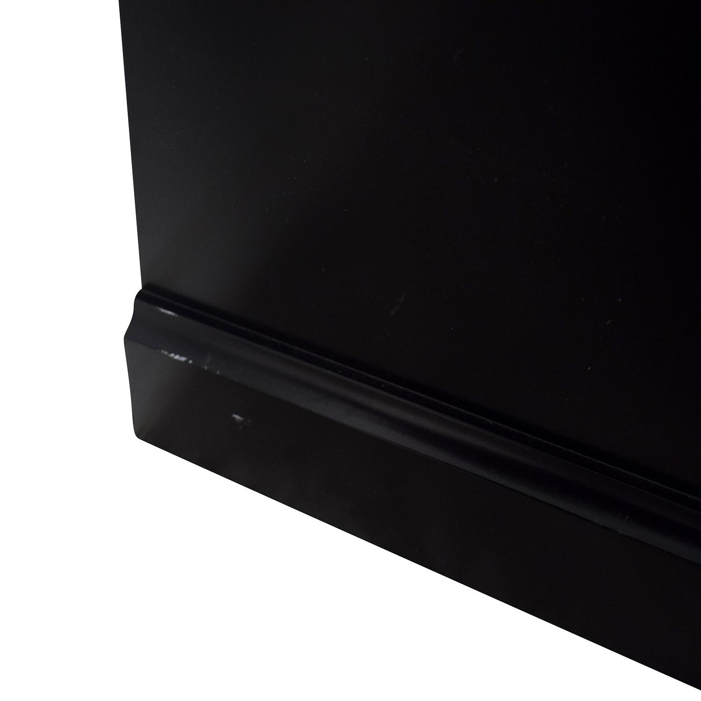 Black Ebonized Wood Two-Door Cabinets on sale