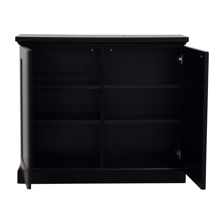 buy Black Ebonized Wood Two-Door Cabinets  Cabinets & Sideboards