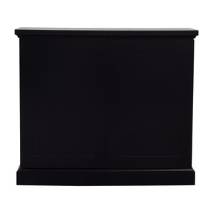 Black Ebonized Wood Two-Door Cabinets on sale