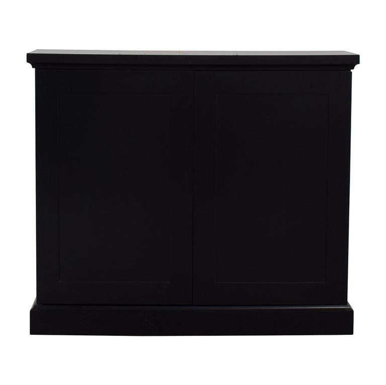 buy Black Ebonized Wood Two-Door Cabinets