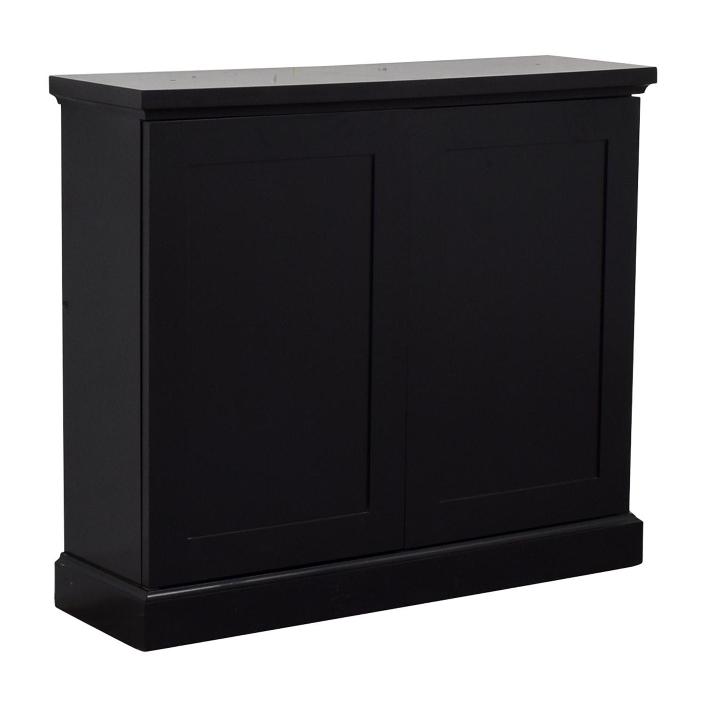 Black Ebonized Wood Two-Door Cabinets coupon