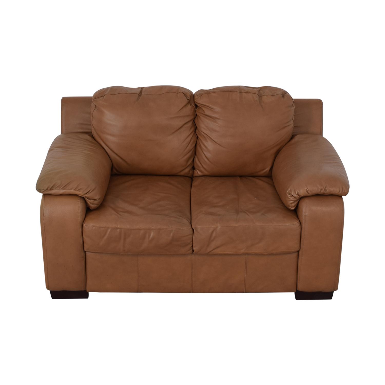 85 Off Jennifer Furniture Jennifer Furniture Cognac Two Cushion