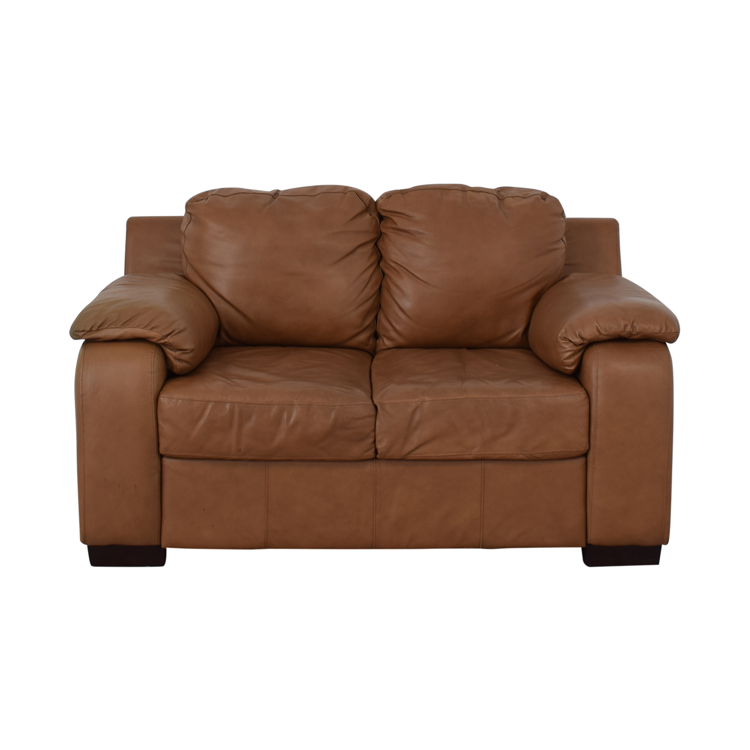 Jennifer Furniture Jennifer Furniture Cognac Two-Cushion Loveseat