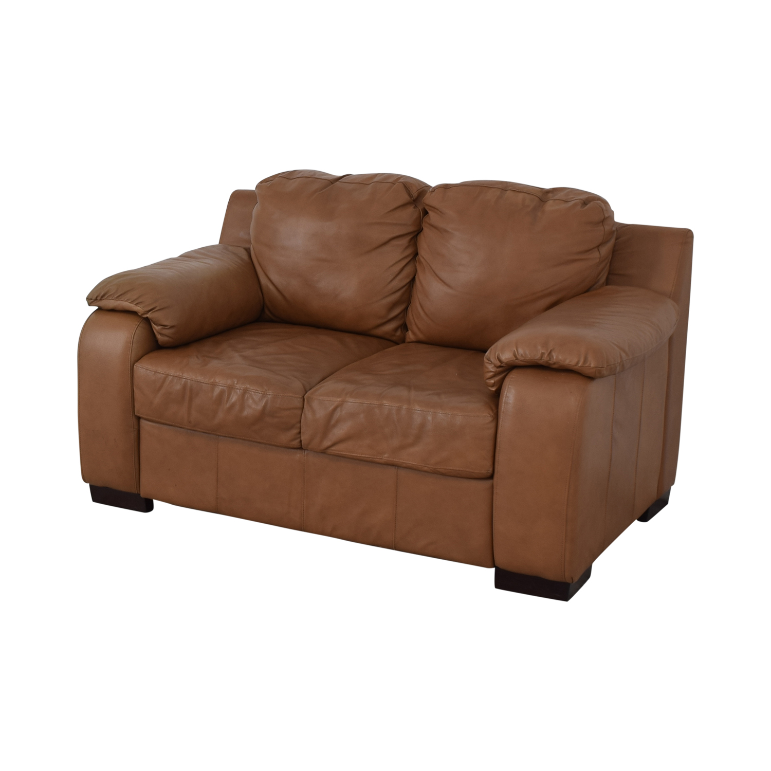 Jennifer Furniture Jennifer Furniture Cognac Two-Cushion Loveseat used
